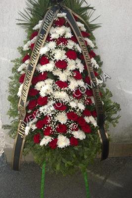 Вінок з живих квітів 9