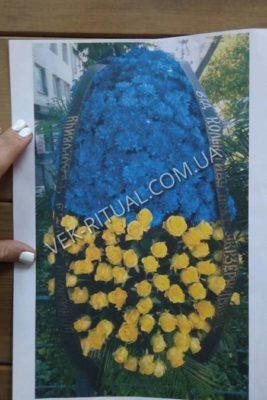 Венок из живых цветов 44
