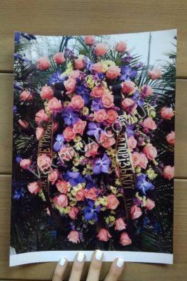 Венок из живых цветов 51