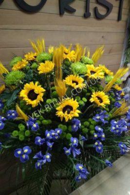 Корзина из живых цветов 39