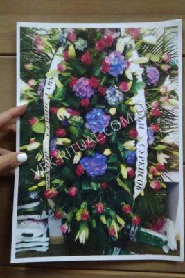 Венок из живых цветов 36