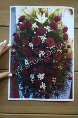 Вінок з живих квітів 33