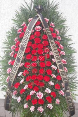 Вінок з живих квітів 58