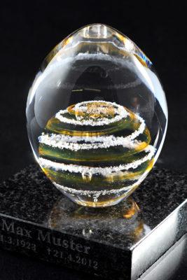 Памятное стекло с частицами праха (ps01-1)