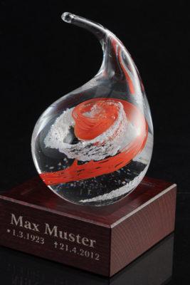 Памятное стекло с частицами праха (ps02-4)
