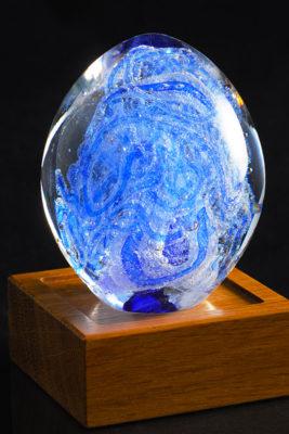 Памятное стекло с частицами праха (ps05-3)