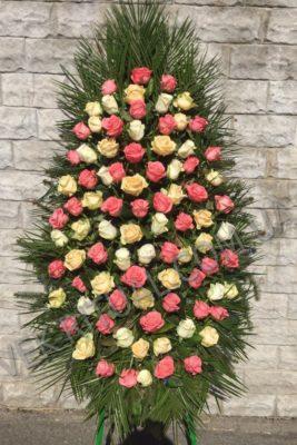 венок из живых цветов 5