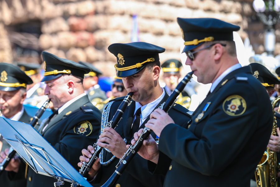 military band at funeral