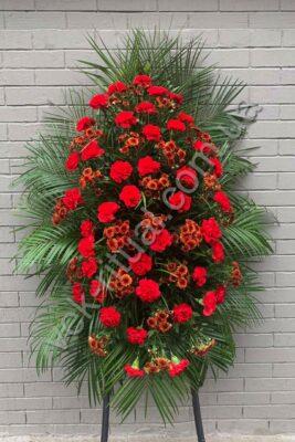 Венок из живых цветов 28