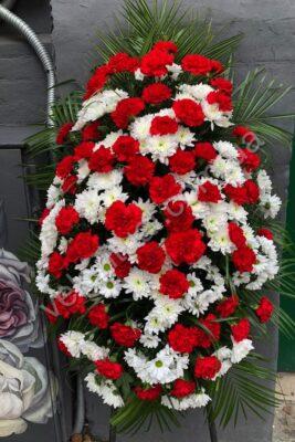Венок из живых цветов 57