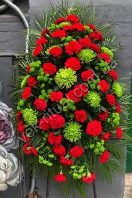 Венок из живых цветов 60