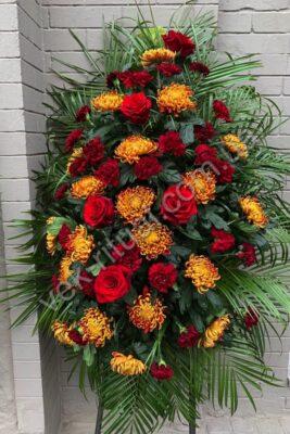 Венок из живых цветов 58